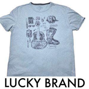 Lucky Brand Short Sleeve T-shirt Western Print